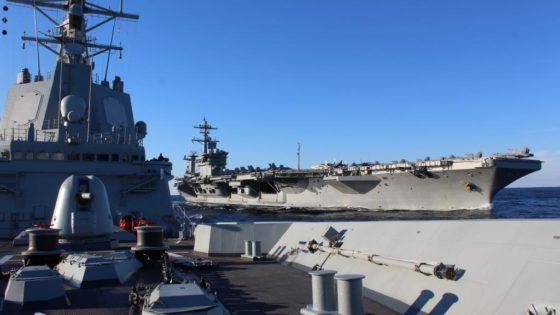 La fragata Méndez Núñez ya se adiestra con el portaaviones Abraham Lincoln