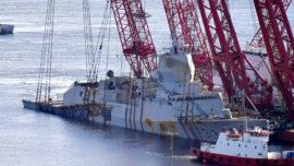 Noruega reflota la fragata Helge Ingstad