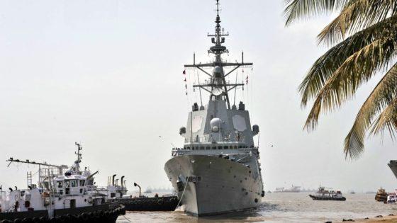 La escala de la fragata Méndez Núñez en Bombay