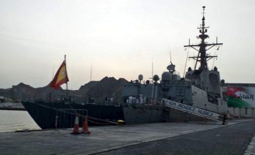 Primeras imágenes de la fragata Méndez Núñez en Omán