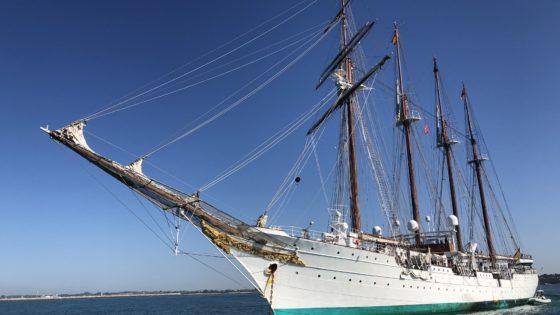 El buque Elcano llega a Cádiz este domingo donde podrá ser visitado