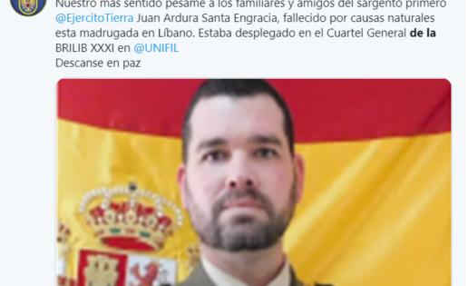Fallece un militar español en Líbano por un infarto