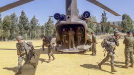 La Legión y seis helicópteros de las Famet, de maniobras con Francia