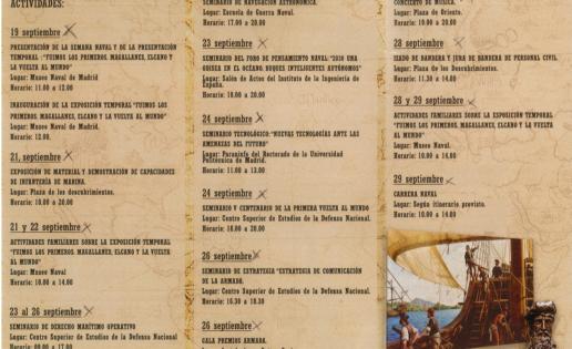 Programa de la IX Semana Naval de la Armada Española en Madrid