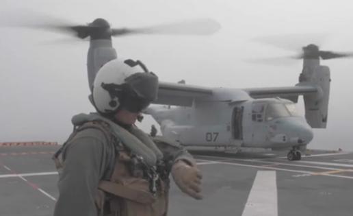 Vídeo: un Osprey de los marines de EE.UU. se pone a prueba en el Juan Carlos I