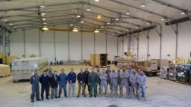 Los primeros componentes del Predator B llegan a su base de Badajoz