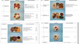 La comida que se sirve a bordo de los aviones Falcon y los Airbus A310