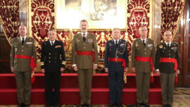 El Rey recibe en el Palacio Real a nuevos mandos de unidades militares
