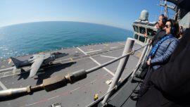 España saca músculo militar frente a las costas de Cádiz y Huelva