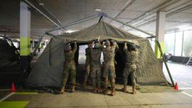 El Ejército ya levanta «puestos de socorro» junto a hospitales