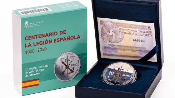 Así es la moneda del centenario de La Legión