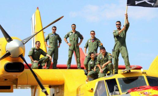 """Los """"corsarios"""" del Ejército del Aire, listos para la lucha contra los incendios"""