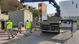 Coronavirus: el Ejército instala una zona de triaje en el Hospital Clínico de de Zaragoza