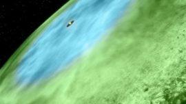 Observan la primera cota de nieve extraterrestre
