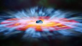 Detectan materia cayendo a un agujero negro al 30% de la velocidad de la luz
