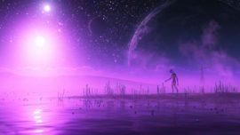 La extraña idea de los extraterrestres morados