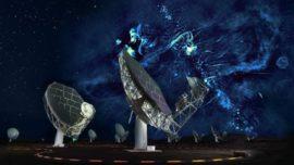 Descubren dos enormes burbujas de energía encima y debajo del centro de la Vía Láctea