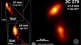 Consiguen un «primer plano» del chorro de energía de un agujero negro