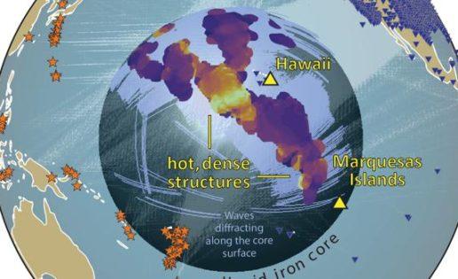Hallan misteriosas y enormes estructuras sólidas junto al núcleo de la Tierra