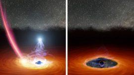 Los astrónomos, perplejos ante la súbita desaparición de la brillante corona de un agujero negro