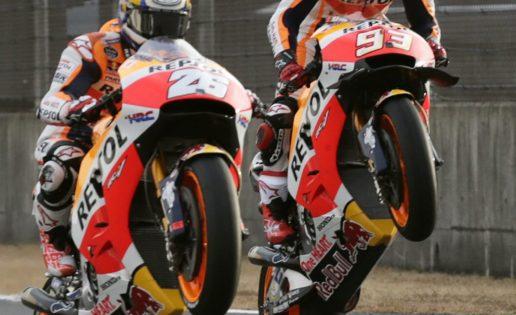 Márquez da sopas con Honda al estilo Valentino