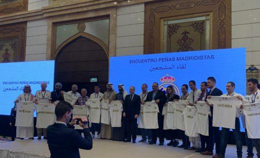 Florentino Pérez recibe a todos los árabes madridistas del mundo y a los Lawrence de Arabia de la peña Ramón Mendoza