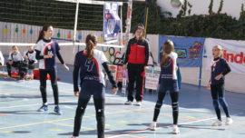 """Las mejores imágenes del partido de voleibol alevín entre San Eulogio y Saint Louis des Français """"A"""""""