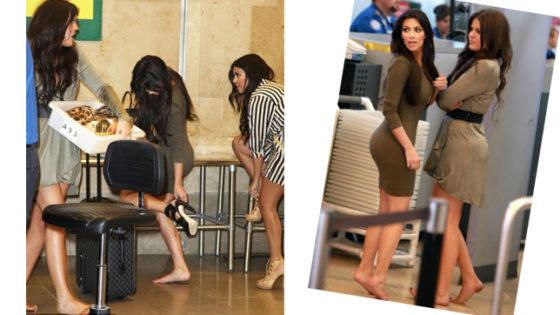 Los famosos también sufren los controles en los aeropuertos