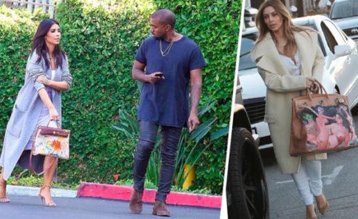Kim Kardashian es una destroza-bolsos