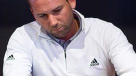 El golfista Sergio García, «chico burbuja» en Valencia