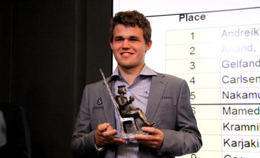 Carlsen gana su cuarto Oscar consecutivo