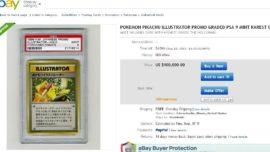 Venden una carta de Pokemon por 100.000 dólares