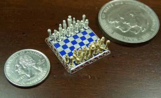 El ajedrez más pequeño del mundo cuesta 3.200 euros