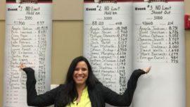 Una aficionada gana tres torneos de póker seguidos