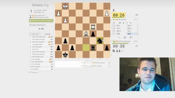 Carlsen logra en Lichess la mayor remontada de la historia