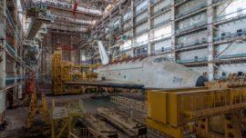 Fotos: el estado de ruina de la gran base espacial de la antigua URSS