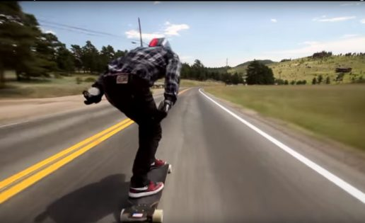 "El vertiginoso ""vuelo"" de un skater a 112 km/h"