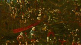 Entramos en la batalla de Lepanto con el cuadro del Museo Naval